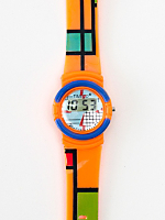 Timeco Orange Mondrian Digital Watch
