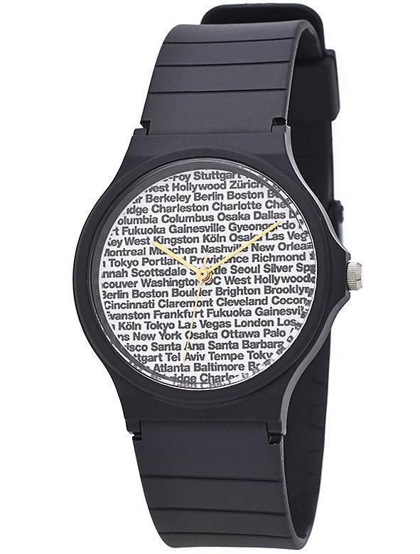 Cities Print Casio Men's Wristwatch