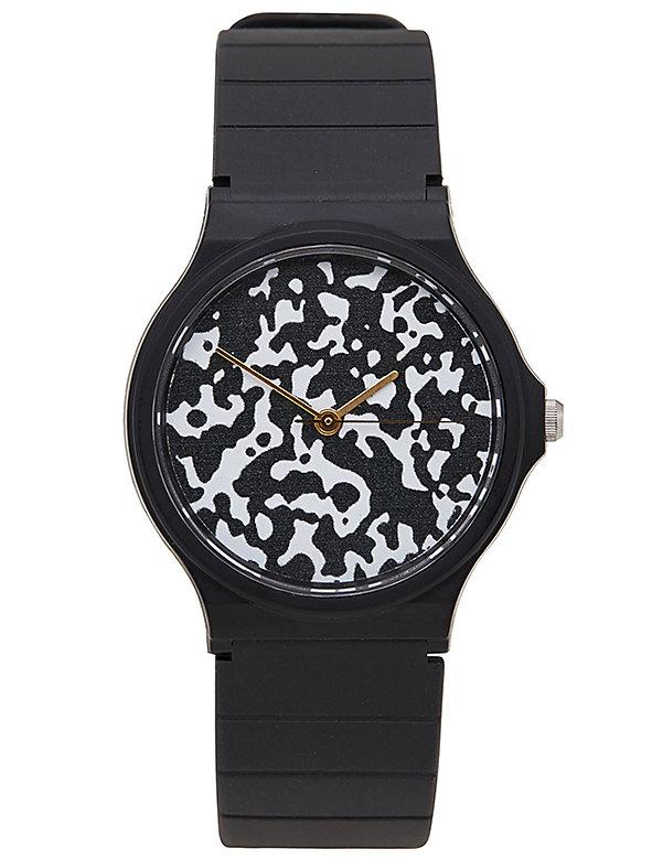 Composition Print Casio Men's Wristwatch