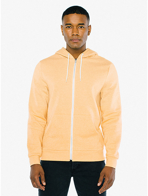 Peppered Fleece Zip Hoodie