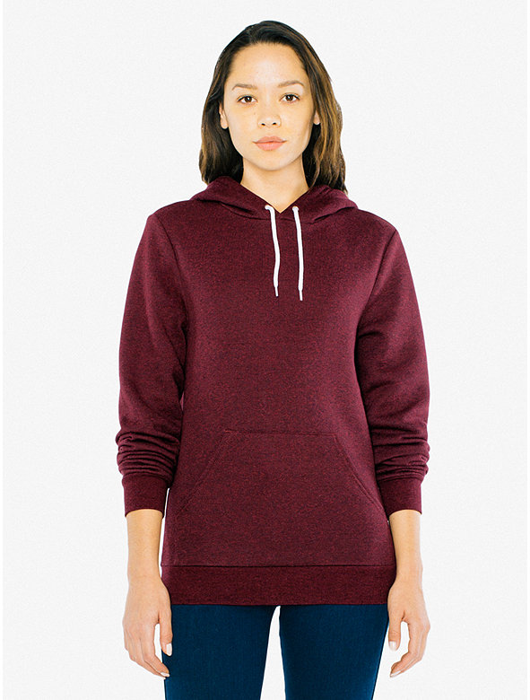 Unisex Peppered Fleece Pullover Hoodie