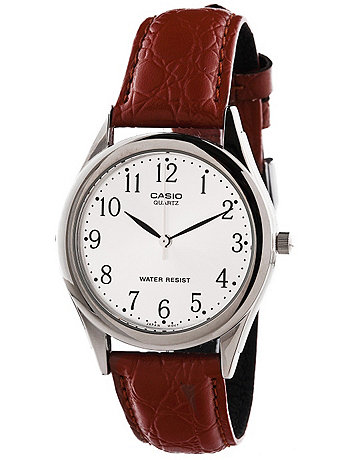 MTP-1093E-7BRDF Casio Brown Leather Analog Watch