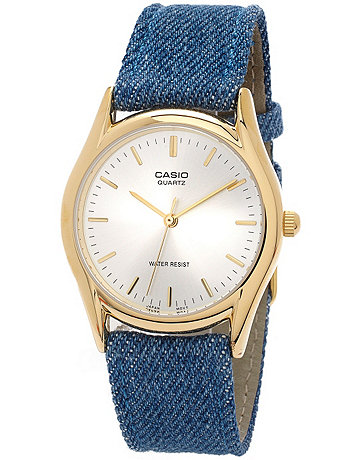 MTP1094Q7A- Casio Medium Denim Wristwatch