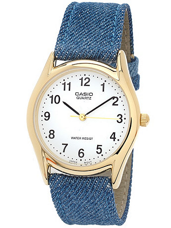 MTP1094Q7B1MD - Casio Medium Denim Watch