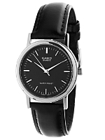 MTP-1095E-1ADF Casio Black Leather Analog Watch