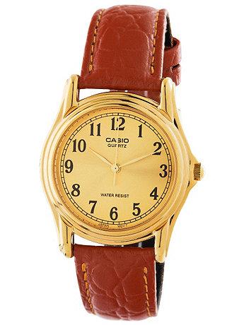 MTP-1096Q-9B1 Casio Camel Leather Analog Watch