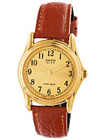 MTP-1096Q-9B1 Casio Camel Leather Analog Watch