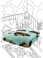 Nathalie Du Pasquier Simy Mint Print Throw