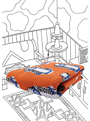 Nathalie Du Pasquier Simy Orange Print Throw