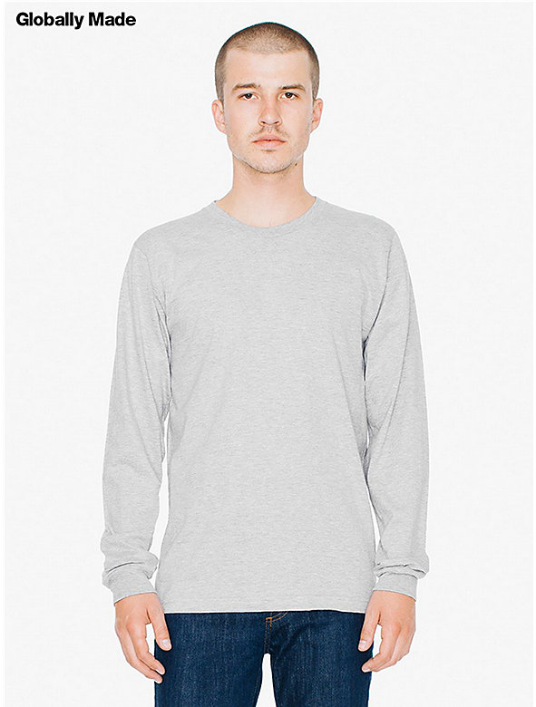 Fine Jersey Crewneck Long Sleeve T-Shirt