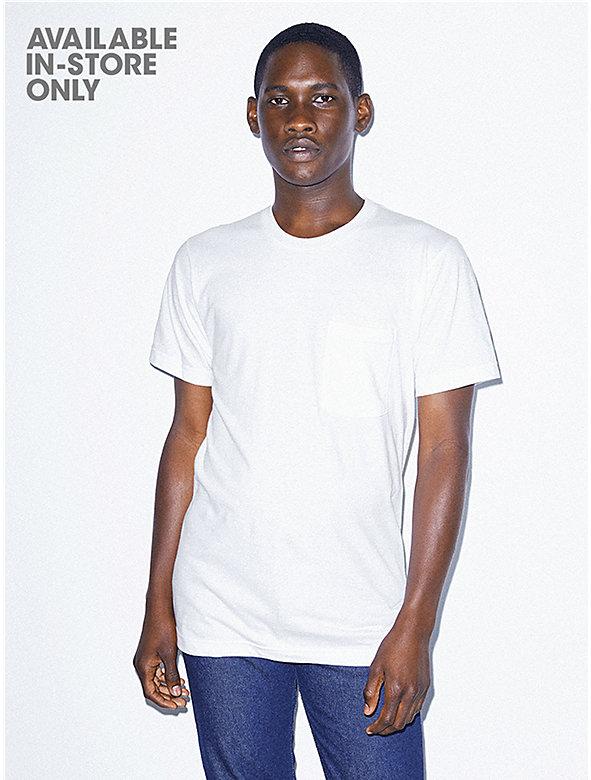 Unisex Fine Jersey Crewneck Pocket T-Shirt