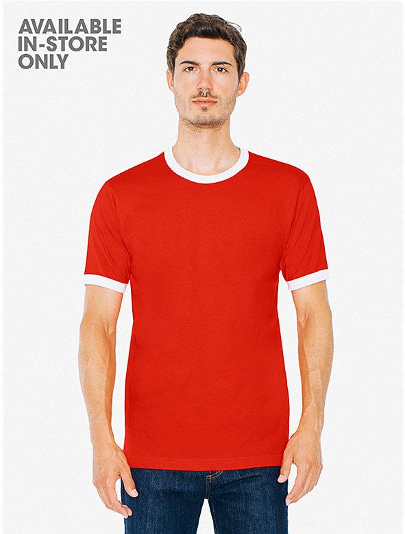 Fine Jersey Short Sleeve Ringer T-Shirt