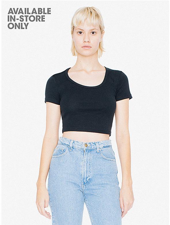 Baby Rib Crop T-Shirt