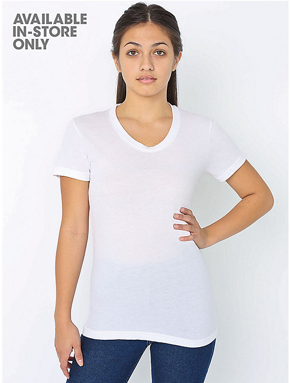 Poly-Cotton Short Sleeve Women's T