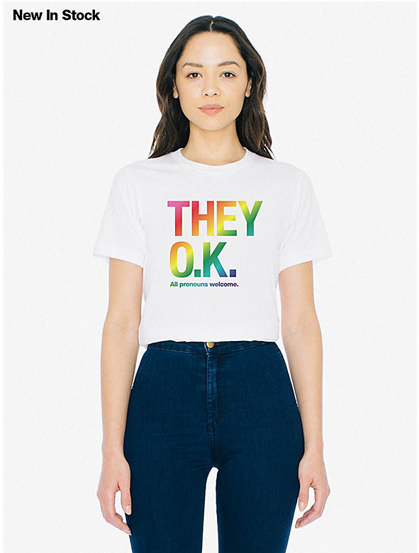 Unisex They Okay Print 50/50 T-Shirt
