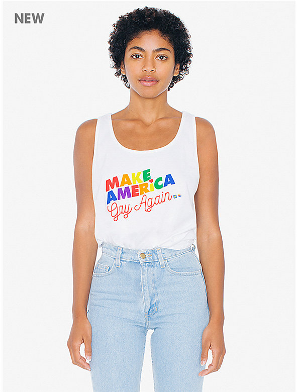'Make America Gay Again' Poly-Cotton Tank Top