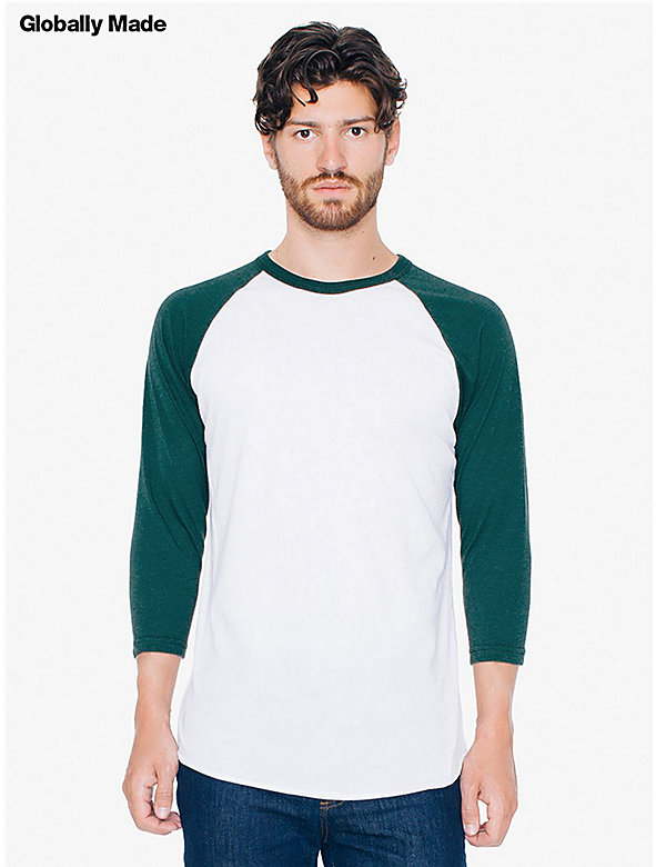 50/50 Raglan 3/4 Sleeve T-Shirt