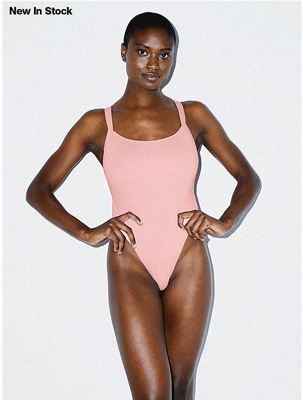 2x2 Thick Strap Thong Bodysuit