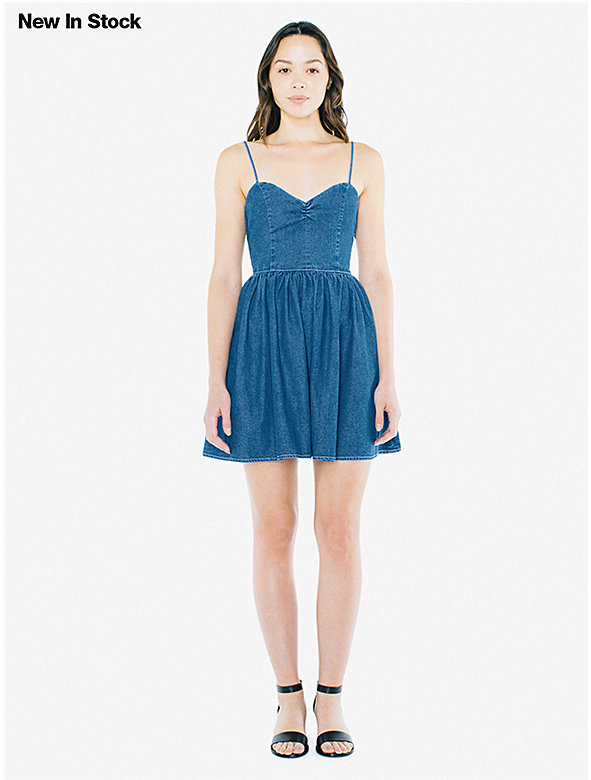 Denim Lace Back Dress