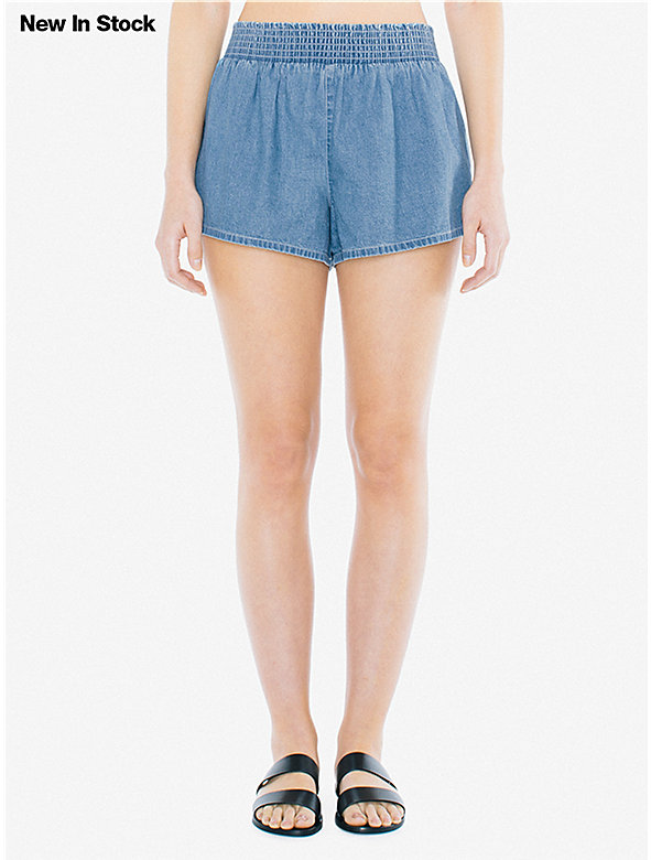 Denim Smocked Short