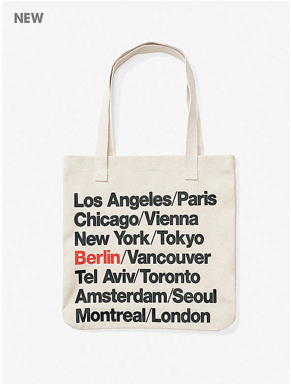 Berlin Cities Print Bull Denim Tote