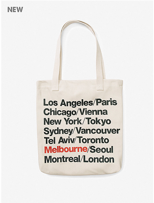 Melbourne Cities Print Bull Denim Tote