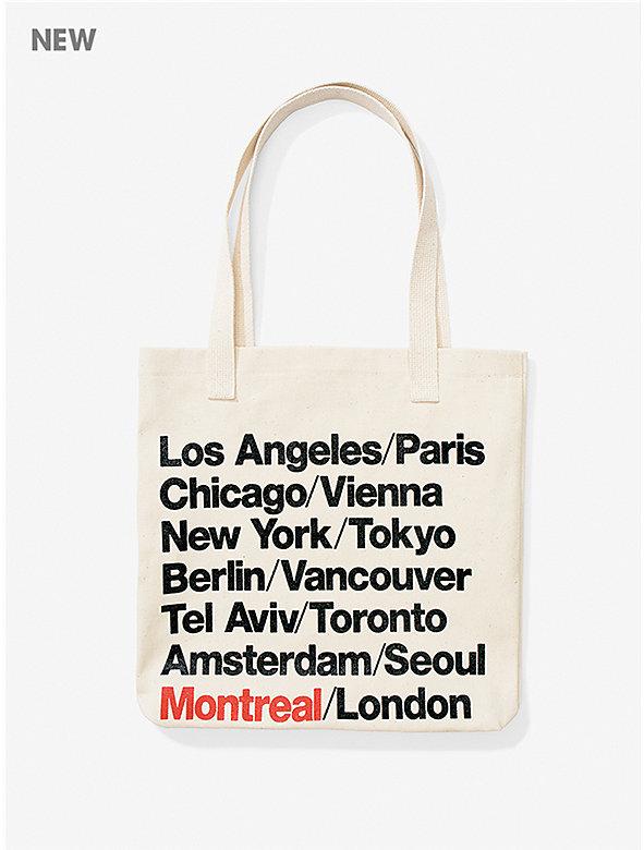 Montreal Cities Print Bull Denim Tote