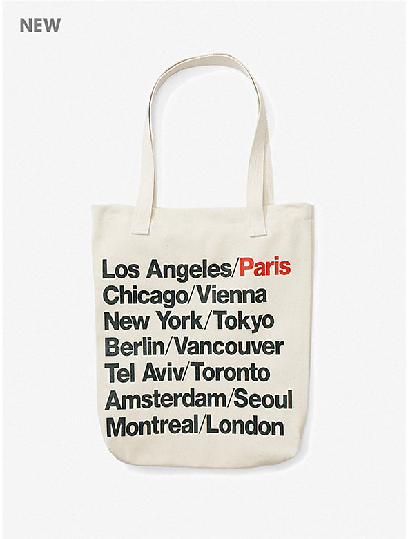 Paris Cities Print Bull Denim Tote