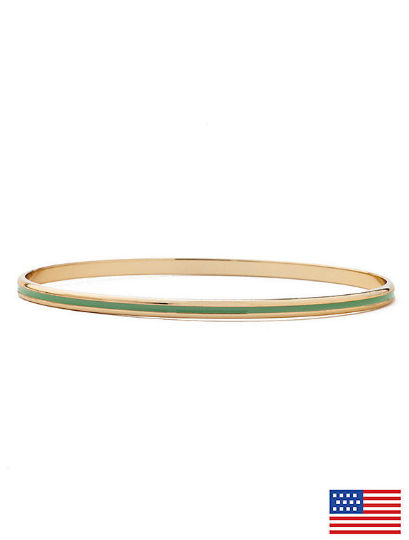 Enamel Bangle Bracelet