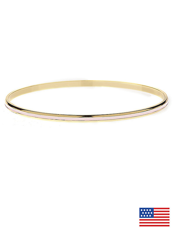 Light Pink Bangle Bracelet