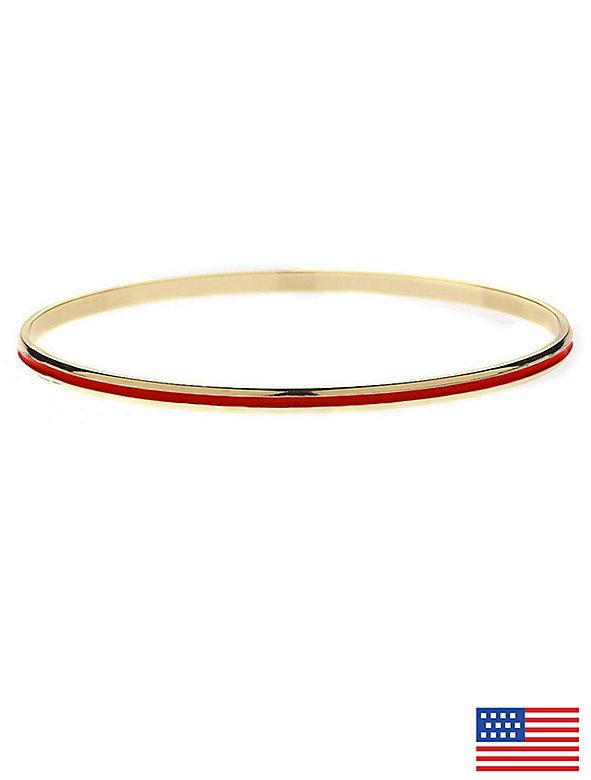 Red Bangle Bracelet