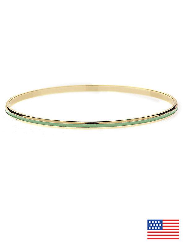 Spring Green Bangle Bracelet