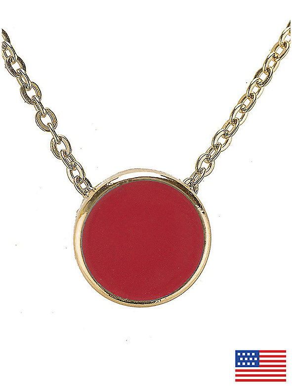 Coral Circle Necklace