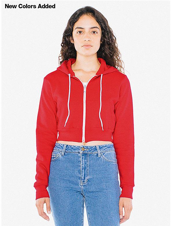 Flex Fleece Cropped Zip Hoodie