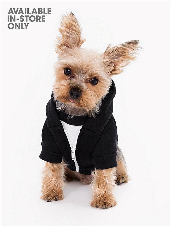Black Flex Fleece Dog Zip Hoodie