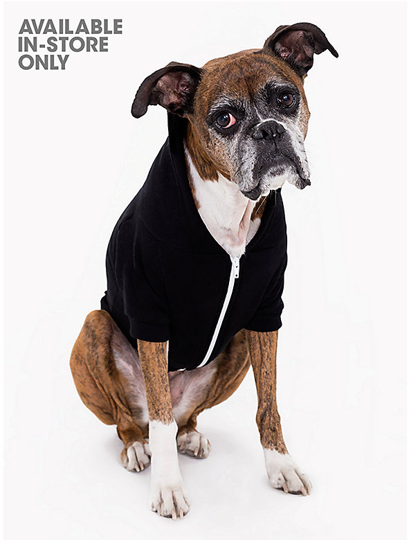 Black Flex Fleece Dog Zip Hoodie (XL-2XL)