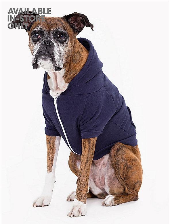 Navy Flex Fleece Dog Zip Hoodie (XL-2XL)