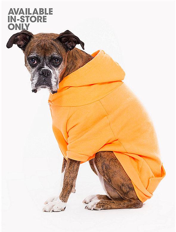 Neon Orange Flex Fleece Dog Zip Hoodie (XL-2XL)