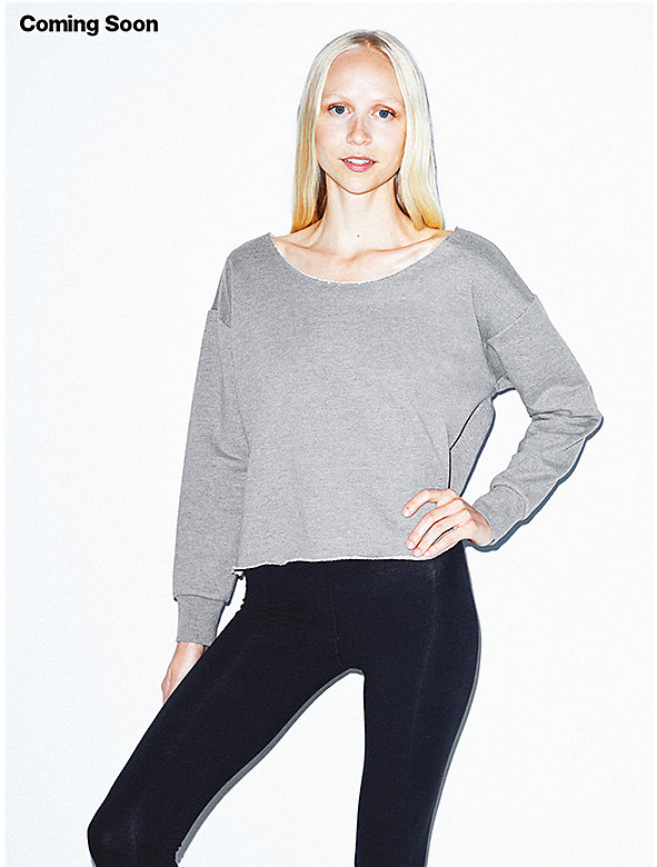 Heavy Terry Crop Sweatshirt