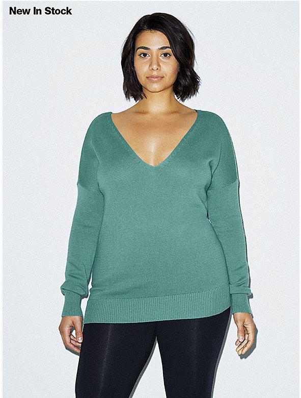 Basic Knit V Sweater