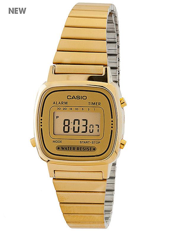 LA670WGA-9 Casio Gold Ladies Digital Watch