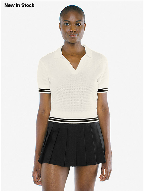 Mesh Knit Tennis Shirt