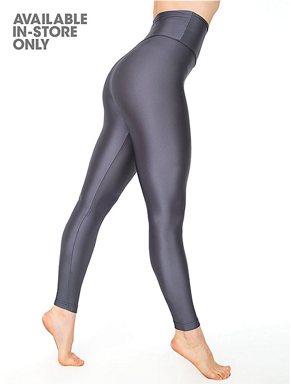 Nylon Tricot High-Waist Leggings