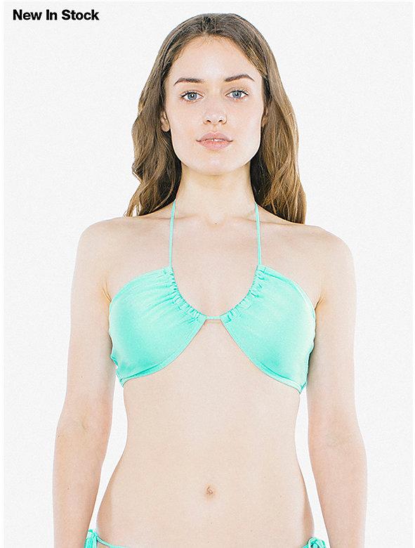 Nylon Tricot Half Moon Bikini Top