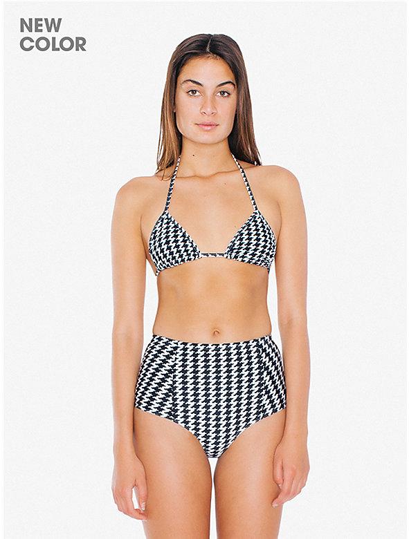 Printed High-Waist Bikini Bottom