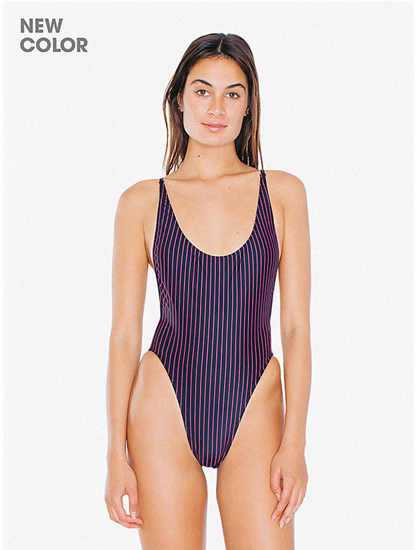 Printed High-Cut One-Piece Swimsuit
