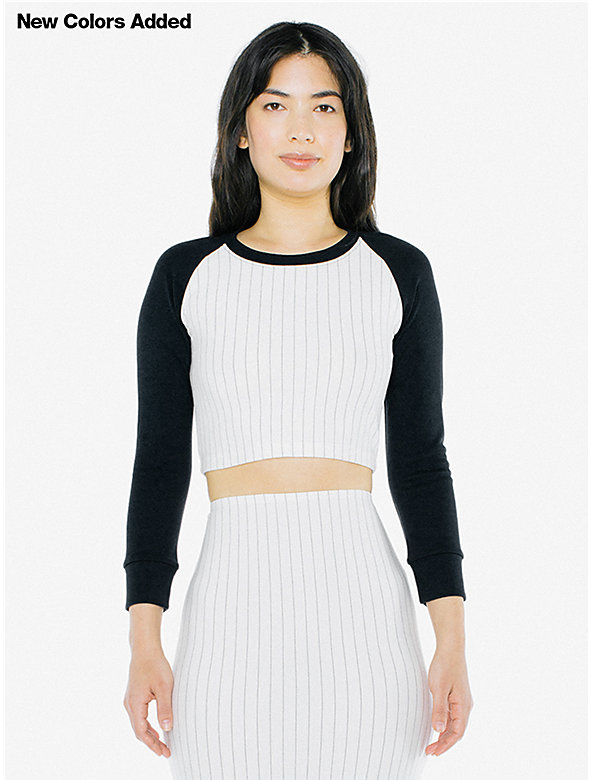 Ponte Long Sleeve Crop Raglan