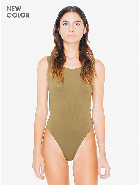 Cotton Spandex Deep Cut Bodysuit