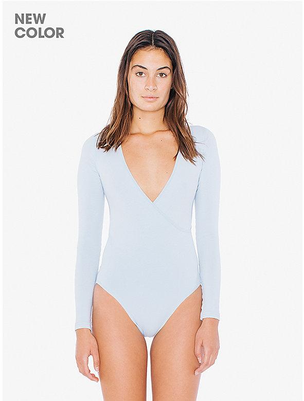 Cotton Spandex Cross V Bodysuit