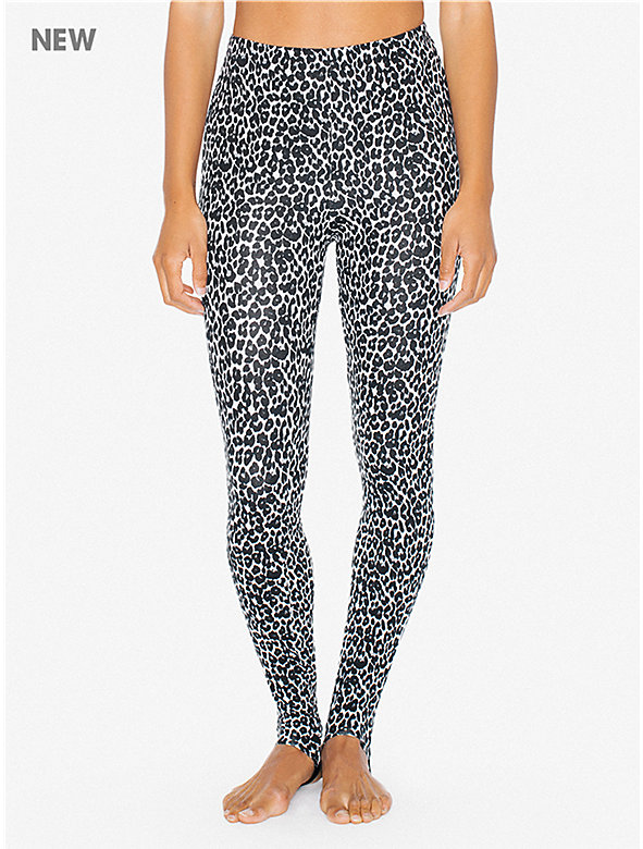 Printed Cotton Spandex High-Waist Stirrup Legging